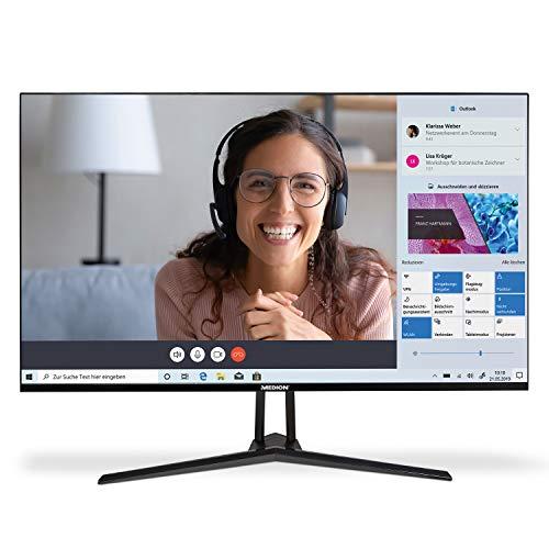 MEDION P53290 80 cm (31,5 Zoll) QHD Monitor (HDMI, DisplayPort, schlankes Gehäuse, multifunktionaler Standfuß, mehrsprachiges Menü)