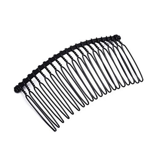 Beaupretty 10pcs cheveux peignes latéraux pinces à cheveux broches fer cheveux fourches avec 20 dents accessoires de cheveux bricolage pour femme fille cheveux fins ou coiffure (noir)