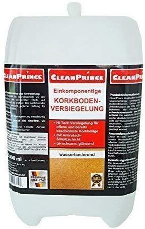 CleanPrince 2 Liter Kork Versiegelung Korkboden-Versiegelung Siegel einkomponentige Korkversiegelung Glanz Korkoberflächen Korksiegel Anti-Rutsch-Schutz wasserbasierend