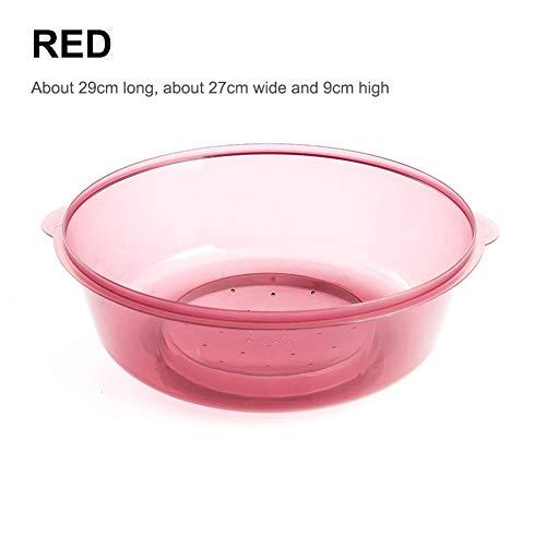 DishyKooker Multifunktionstisch Lebensmittel Staubdicht Anti-Moskito-Abdeckung für Geschirrspüler Mikrowellen-Waschkorb rot Household