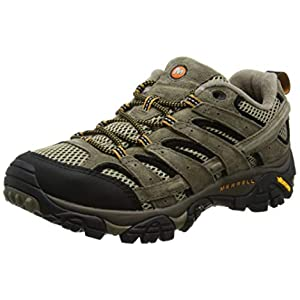 Merrell Mens Moab 2 Nubuck Low & Mid Tops Lace Up Fashion, Multicolor, Size 7.5
