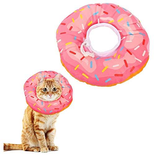Mascota Inflable del Collar del Gato del Collar de Perro de recuperación Elizabeth Círculo Almohada Cofortable Cono Suave Blow Up para la Pequeña Mediana Perros y Gatos Curación de Heridas (Rosa S)