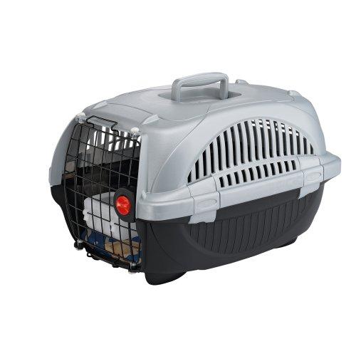 Ferplast 73032899W1 Atlas Deluxe 10 Katzen und Hunde Transportbox, 34 x 50.7 x H 30 cm, schwarz