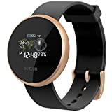 Montre Connectée Femme Montre Connectee Homme Etanche Sport Réveil Cardio Podomètre Calorie Appel Texto Rappel GPS IP68 Bracelet Connecté Intelligent Tracker D'activité Compatible Android iPhone Or