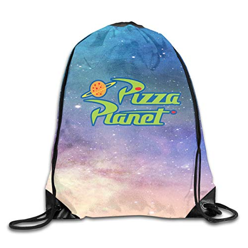 YuYfashions Men Women Brave Pizza Toy Planet Gym Drawstring Drawstring Backpacks Shoulder Bags Sport Sack Backpack for Home Travel Exercise Beam Mouth Package A3661 Mochila con Lazo