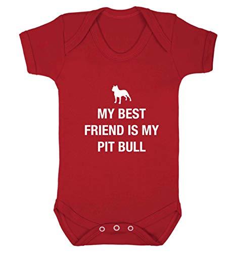 Flox Creative Gilet pour bébé Best Friend Pit Bull - Rouge - XS