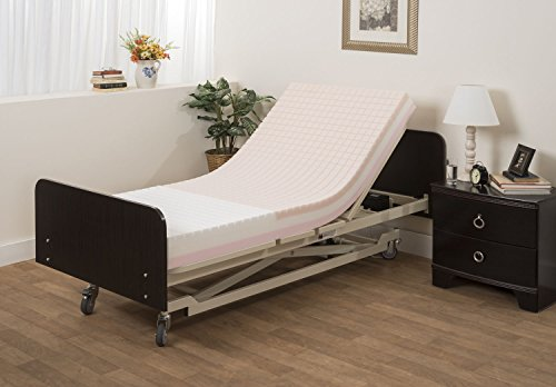 Pressure Redistribution Foam Hospital Bed Mattress - 3 Layered Visco Elastic Memory Foam - 76' x 36'...