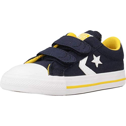 Converse Star Player 2V Amarillo/Obsidiana/Blanco Lona EU 25