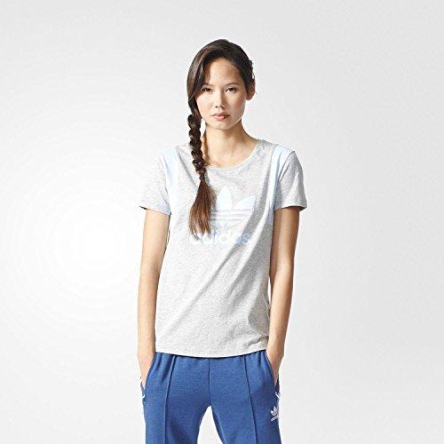 adidas Trefoil tee Camiseta, Mujer, Gris (Brgrin/Azusen), 32