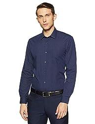 Peter England Mens Plain Regular Fit Formal Shirt