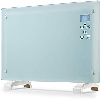 Panel de radiadores 1500W Calentador eléctrico con patas calentador de sitio remoto con botón de control táctil y el LED del ventilador del calentador pared Calentador 110V (tamaño: 27.56x3.94x18.50 p