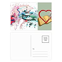 図の中国のドラゴン橋 ハガキカード祝福日記バレンタインカード20枚