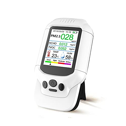 Air Quality Pollution Monitor, Formaldehyde Detector, Temperature & Humidity Meter, Sensor, Tester; Detect PM2.5/PM10/PM1.0 Micron Dust, Test Indoor TVOC Volatile Organic Compound Gas; eBook
