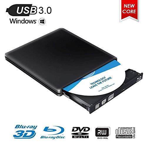 Grabador de Unidad de DVD BLU Ray Externo, 4K 3D Unidad Externa...
