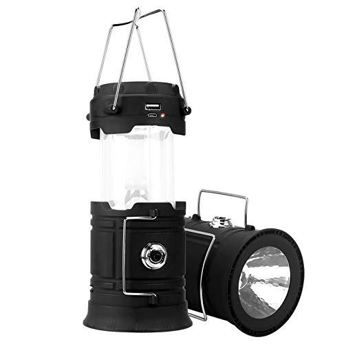 Linterna Solar Luz de Emergencia Camping Pesca Accesorios Batería Solar USB Linterna para Pesca Recargable