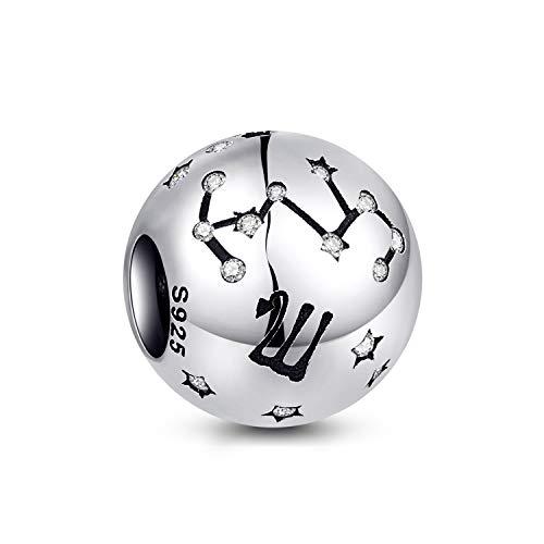 NINGAN der Skorpion 12 Sternzeichen Geburtstag Anhänger – 925 Sterlingsilber Anhänger für Armband & Halskette – Ideale Geburtsgeschenke für Frauen & Freundinnen