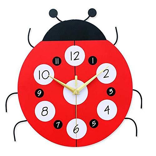 wall clock Horloge Murale Échelle de Mise en sourdine Non réfléchissante Fondu Pas de Bande dessinée Coccinelle Mode Quartz Bell Chambre/Bureau