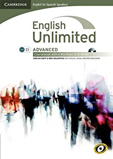 English unlimited for spanish speakers advanced coursebook with e-portfolio