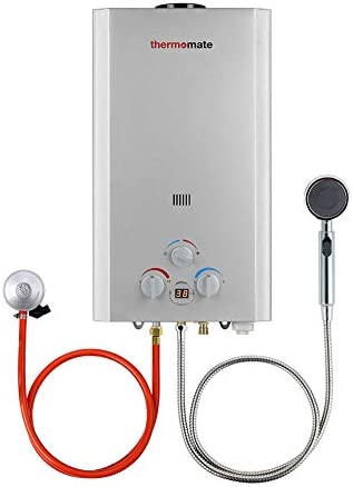 Gas Water Heater, Thermomate BE211S 8L Tankless Propane Water Heater, Portable Instant Gas Boiler, Use for Outdoor Showers, Washing Horses, Camping, RV…