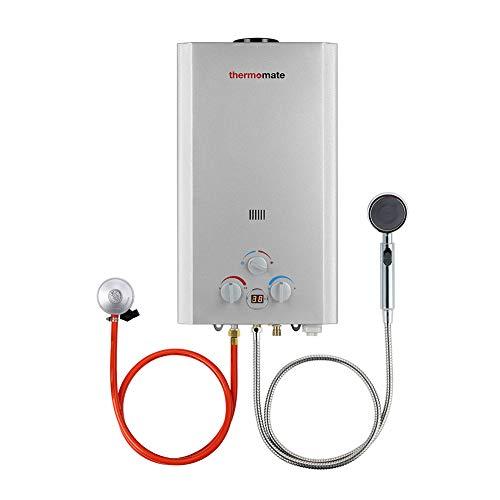Calentadores de Gas, thermomate BE318S Instantaneo Calentador de Agua a Gas GLP 12 Litros, uso para Caravana, Camping