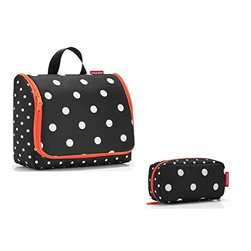 schönes reisenthel Kosmetikset Kulturtasche/toiletbag und kleine Kosmetikmäppchen/multicase in verschiedenen Dekoren (Mixed dots, XL)