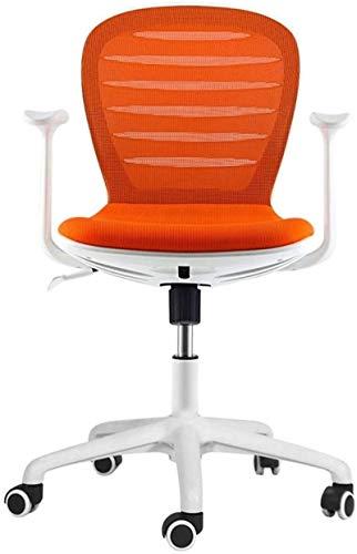 Tägliche Ausrüstung Bürostühle Home Office Spielstuhl mit Armlehnen Bequemer und atmungsaktiver ergonomischer Damendrehstuhl Schwarz Größe: 85-95 cm (Farbe: Orange Größe: 85-95 cm)