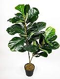 Geigenfeige 90cm ZJ Kunstbaum Kunstpflanzen künstlicher Baum Ficus Lykra künstliche Feige