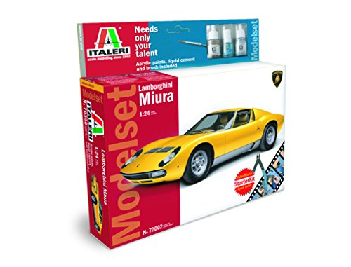Italeri 72002 - Modelset: 1:24 Lamborghini Miura Model Kit Scala 1:24