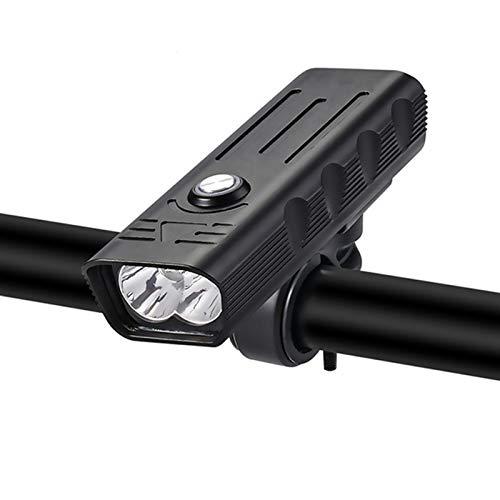 Tira de luz LED 10000mAh Frente Bike Light 5T6 3000 Lumens Light Light USB Recargable Potente Flashlight MTB Lámpara Luz Luz Faro Luz Trasera Tira de luz (Color : 2600mAh Light)