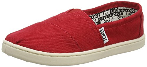 TOMS Toms Classic Canvas Red Kids Trainers Size 39 EU