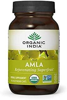 ORGANIC INDIA Amla - Vitamin C, 90 Veg Capsules (Packaging May Vary)