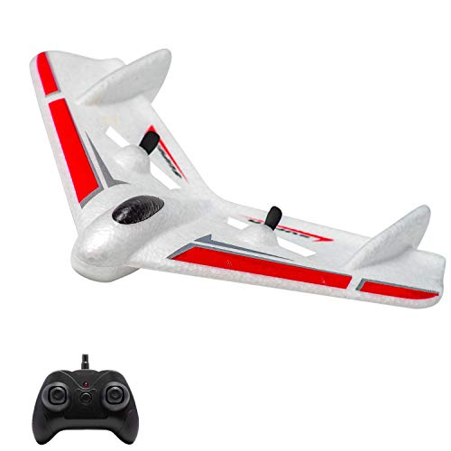 LBKR Tech Remote Control Airplane Ready to Fly, 2.4Ghz 2 Channel RC Plane Built in 3-Axis Gyro for Kids Boys Beginner, Durable EPP Foam RC Aircraft, Easy to Fly RC Glider for Indoor & Outdoor Flight