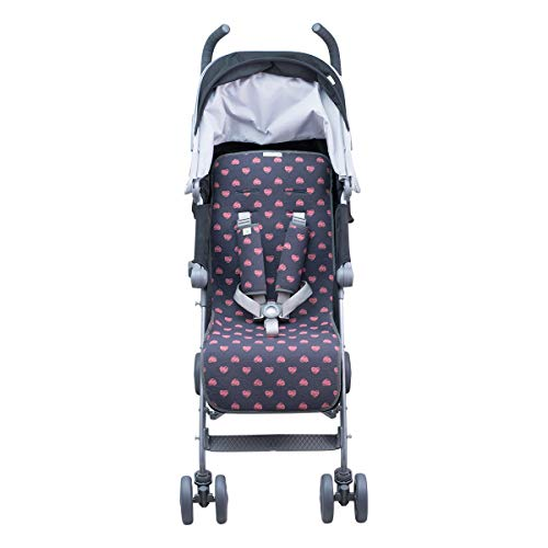 JANABEBE Colchoneta Para Easy Walker, Baby Home (Fluor Heart, Basic)