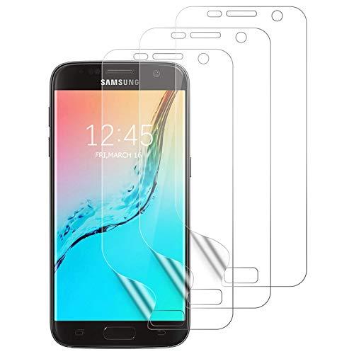 Aspiree 3 Stück Schutzfolie für Samsung Galaxy S7, [Ultra HD] Weich TPU Folie für Samsung Galaxy S7 (Nicht Panzerglas), Bildschirmschutz Folie für Galaxy S7
