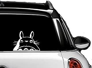"A&B Traders Totoro Head 5.7"" Sticker - Cute and Funny Totoro Decal for Car/Van, Truck, Windows, Bike, MacBook, Laptop Vinyl Decal Sticker White"