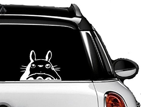 "Totoro Head 5.7"" Sticker - Cute and Funny Totoro Decal for Car/Van, Truck, Windows, Bike, MacBook, Laptop Vinyl Decal Sticker White. by A-B Traders"
