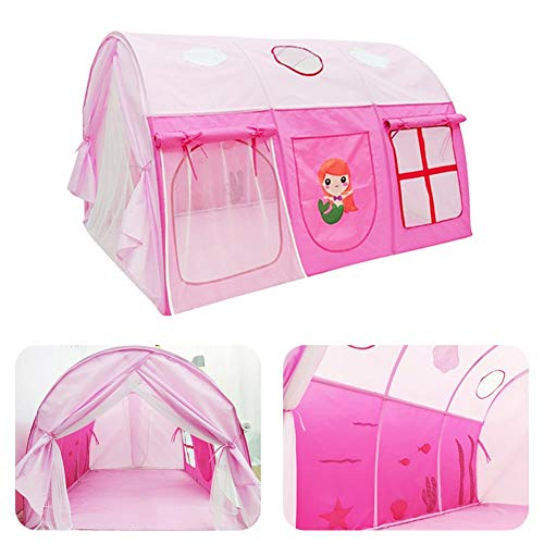 Tienda infantil Tela Oxford Juego impermeable para niños Tienda portátil Juego de túnel Tienda de juguetes Casa de juego Princesa Cama Manto Casa de juego para niños y niñas Juego interior y exterior