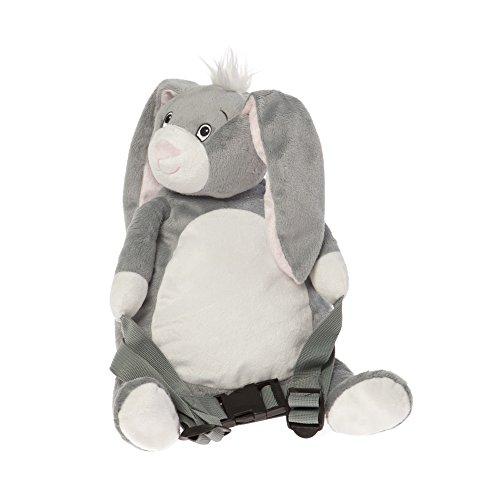 BoBo Buddies Sac à dos avec sécurité Lapin Gris