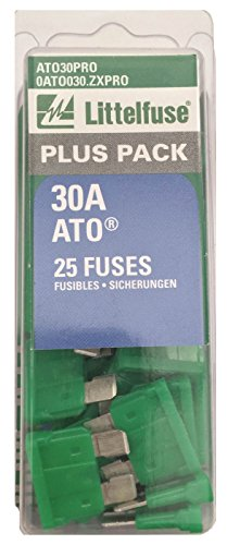 Littelfuse ATO30PRO ATO BP PRO Fast-Acting Automotive Blade Fuse - 25 Piece
