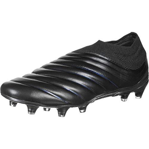adidas Copa 19+ FG, Bota de fútbol, Core Black-Silver Metallic, Talla 7 UK (40 2/3 EU)