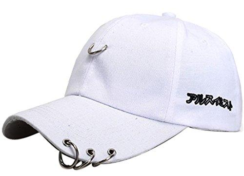 Belsen Belsen Damen Stift Ring Reifen Vintage Baseball Cap Trucker Hat (weiß)