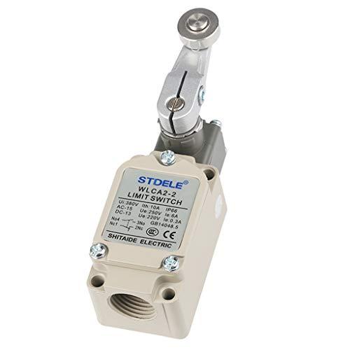 Bonarty WLCA2-2 Micro Interruptor de Límites Palanca Brazo de Rodillo Rodillo de Bisagra Largo Acción Rápida