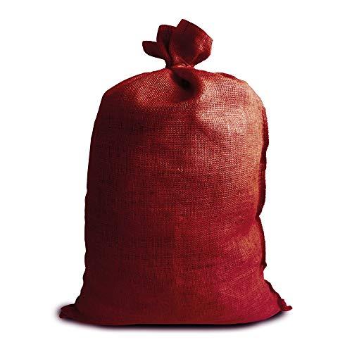 NOOR Premium Jutesack Gr. S 60 x 105 cm I Multifunktionaler Jute Sack I Winterschutz für Topf- & Kübelpflanzen I Frostschutz für Pflanzen I Pflanzen-Überwinterung Öko-Sack I Gartensack Rot