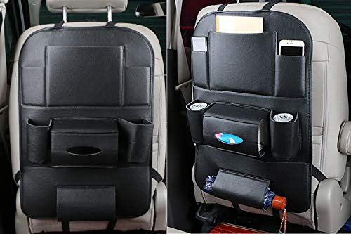 Multi-pocket Cargo Storage Organiser Protectors For Car,Can Hold up 5-6 Kg Kick Mat Rovtop 2 Pcs Car Seat Organiser with Tablet Holder