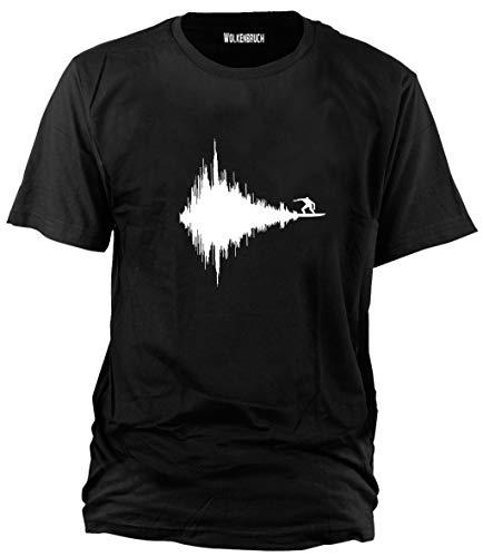 Wolkenbruch® T-Shirt Frequent Surfer, schwarz, Gr.L