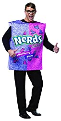 man dressed as a nerds candy costume