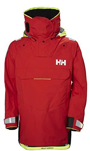 Helly-Hansen Men's Aegir Ocean Waterproof Breathable Sailing Dry Top, Alert Red, Large
