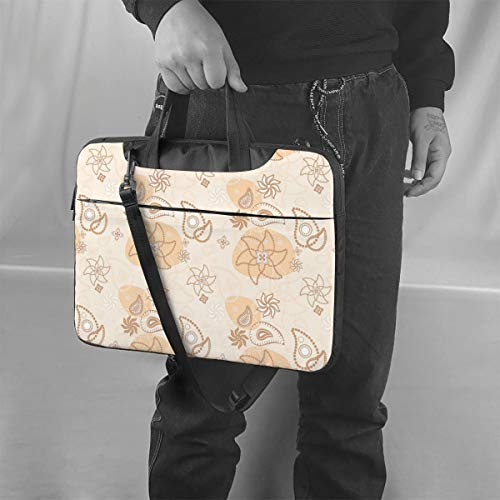 KXT Paisley 14 inch Unisex Briefcase,Fits Up to Hp Envy Laptop for Office