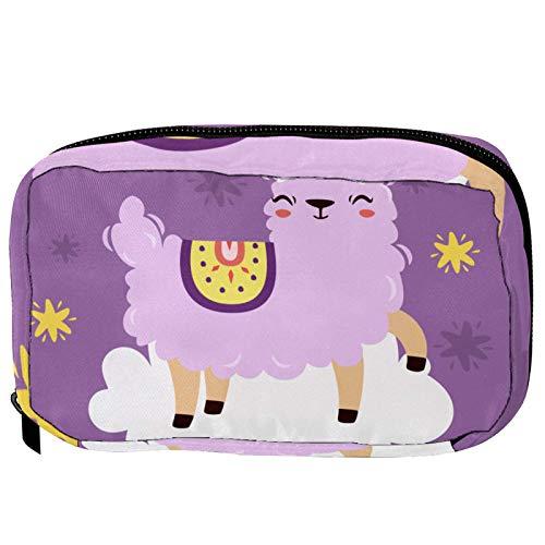 Pequeña bolsa de cosméticos para bolso, bolsa de maquillaje, bolsa de cosméticos, bolsa de viaje, neceser de viaje, neceser para lápices, monedero con cremallera, lindo dinosaurio T REX Happy Birthday