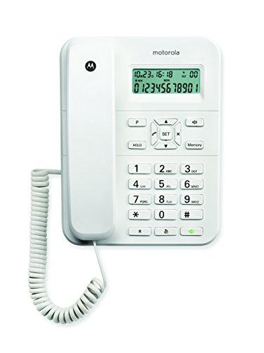 Motorola CT202 - Teléfono de sobremesa con Cable, Color Blanco